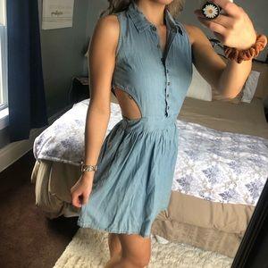Denim Peep Hole Dress